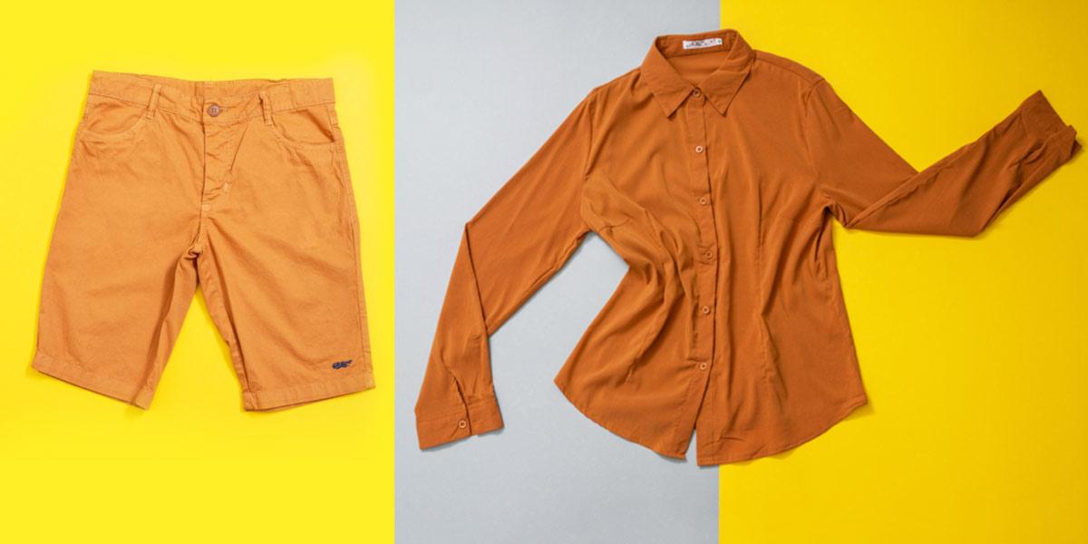 roupas cor mostarda